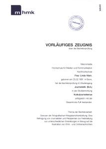 Bachelor-Zeugnis Linda Katharina Klein